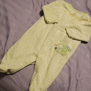 "3 mos frogy ""Mommy and Me"" footie pajamas"